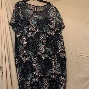 Lane Bryant Lace Embroidery Floral Dress sz 26/28